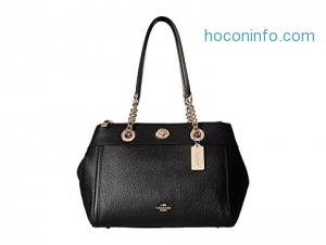 ihocon: COACH 包包Polished Pebble Turnlock Edie Carryall