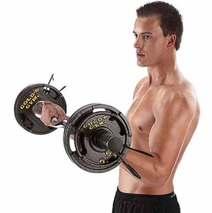 ihocon: Gold's Gym 50 lb Olympic Plate Set舉重槓鈴
