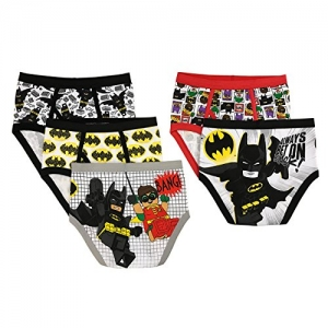 ihocon: LEGO Boys' Batman 5-Pack Brief, size 8 蝙蝠俠男童內褲