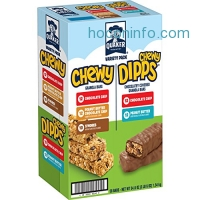 ihocon: Quaker Chewy Granola Bars and Dipps Variety Pack, 58 Count