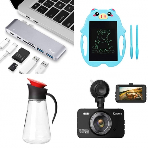 [Amazon折扣碼] USB C Hub, LCD手寫板, 油壺, 行車記錄器 額外折扣!