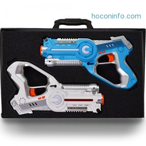 ihocon: DYNASTY TOYS Family Games Laser Tag Set and Carrying Case, (2 Pack)