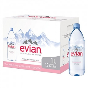 ihocon: 12-pack 1 Liter Evian Natural Spring Water 天然泉水