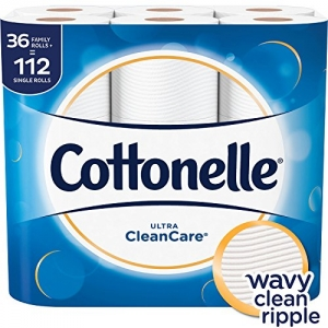 ihocon: Cottonelle Ultra CleanCare Toilet Paper, Strong Bath Tissue, 36 Family Rolls+ 家庭號廁所衛生紙