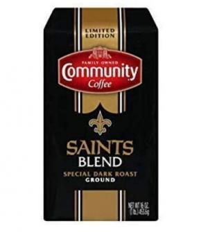 ihocon: Community New Orleans Saints Dark Roast Ground Coffee, 1 Pound研磨咖啡