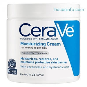 ihocon: CeraVe Moisturizing Cream 19 oz Daily Face and Body Moisturizer for Dry Skin