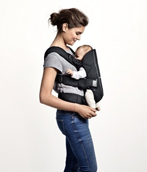 ihocon: BABYBJORN Baby Carrier One - Gray/Pinstripe (Limited Edition Color)嬰兒背帶