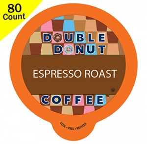 ihocon: Double Donut Espresso Roast Coffee, in Recyclable Single Serve Cups, 80 Count咖啡膠囊