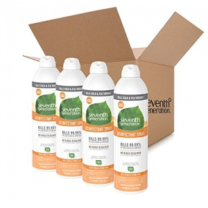ihocon: Seventh Generation Disinfectant Spray, Fresh Citrus & Thyme, 13.9 Ounce (Pack of 4) 消毒噴霧