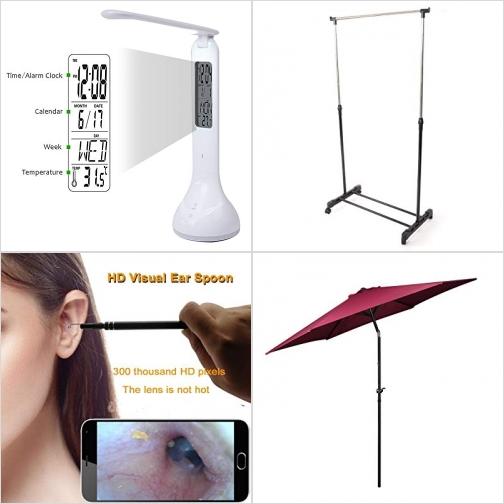 [Amazon折扣碼] LED護眼桌燈, 晾衣架, 耳朵/鼻子檢查鏡, 庭園遮陽傘 額外折扣!