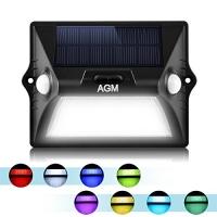 AGM LED 太陽能動作感應室外燈 $9.59(原價$15.99, 40% Off)