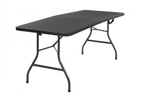 ihocon: Cosco Deluxe 6 foot x 30 inch Fold-in-Half Blow Molded Folding Table, Black 6英尺 折疊桌