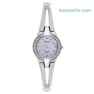 ihocon: Seiko Tressia SUP231 Solar Swarovski Crystals Women's Watch SUP231