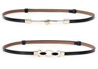 ihocon: Women Vintage Skinny Leather Belt,  fit 23-40inch 女士皮帶- 2款可選