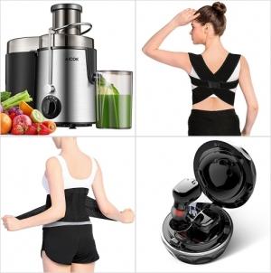 [Amazon折扣碼] 榨汁機, 姿勢矯正帶, 透氣護腰, 觸控消噪真無線耳機 額外折扣!