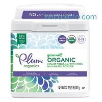 ihocon: Plum Organics Grow Well Organic Infant Formula, 32 Ounce有機嬰兒奶粉