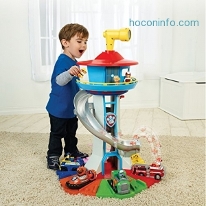 ihocon: Nickelodeon - Paw Patrol – My Size Lookout Tower with Exclusive Vehicle, Rotating Periscope and Lights and Sounds