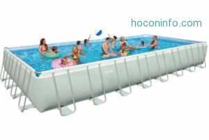 ihocon: Intex 16' x 32' x 52 Ultra Frame Above Ground Swimming Pool - 26371EH 游泳池