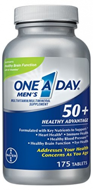 ihocon: One A Day Men's 50+ Healthy Advantage Multivitamin, 175 Count 男性50+銀髮族綜合維他命, 175粒