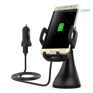 ihocon: dodocool Qi Wireless Charger / Car Mount 無線充電,汽車手機固定器