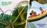 Busch Gardens Williamsburg + Water Country USA 3天門票 $50(價值$120, 58% Off)