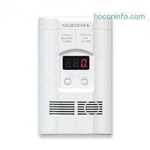 Nighthawk 一氧化碳及瓦斯外洩警報器 $37.99免運(原價$65.99, 42% Off)