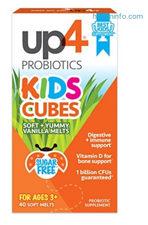 ihocon: up4 Kids Cubes Probiotic, Digestive + Immune Support, Vitamin D, 1 Billion CFUs, 40 Soft + Yummy Vanilla Melts 兒童益生菌