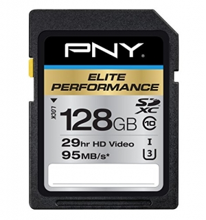 ihocon: PNY Elite Performance 128 GB High Speed SDXC Class 10 UHS-I Flash Card 記憶卡