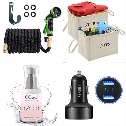 [Amazon折扣碼] 伸縮澆花水管, 布質玩具收納箱, 抗老眼霜, 汽車充電器 額外折扣!