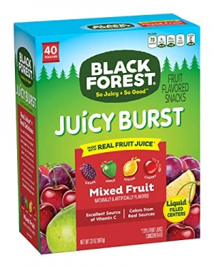 ihocon: Black Forest Medley Juicy Center Fruit Snacks, Mixed Fruit Flavors, 0.8 Ounce Bag, 40 Count