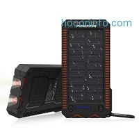 ihocon: Poweradd Apollo 2 12000mAh Solar Panel Power Bank - Waterproof / Shockproof / Dustproof 太陽能行動電源/充電寶