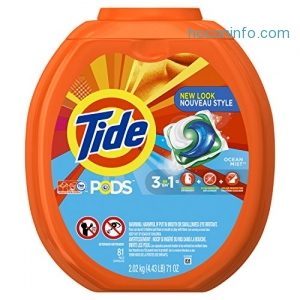 ihocon: Tide PODS Ocean Mist Scent HE Turbo Laundry Detergent Pacs, 81 count