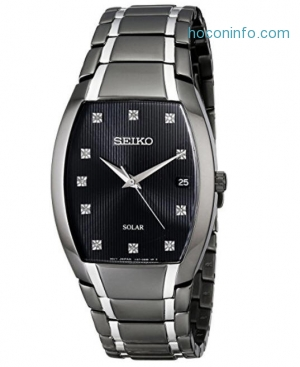 ihocon: Seiko 精工太陽能男錶 Men's SNE335 Solar Japanese Quartz Watch