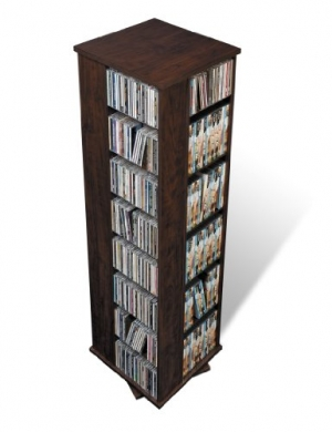 ihocon: Prepac Large Four-Sided Spinning Tower Storage Cabinet, Espresso 四面旋轉書架