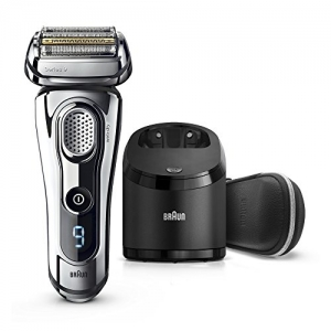ihocon: Braun Series 9 Men's Electric Foil Shaver with Wet & Dry Integrated Precision Trimmer & Rechargeable and Cordless Razor with Clean&Charge Station 男士乾濕兩用電動刮鬍刀+清潔/充電系統