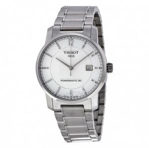 ihocon: TISSOT T-Classic Titanium Automatic Silver Dial Men's Watch T0874074403700