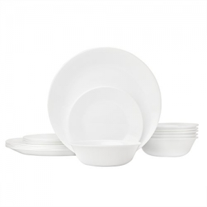 ihocon: Corelle Winter Frost White Dinnerware Set (18-Piece, Service for 6)康寧餐具