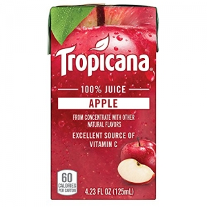 ihocon: Tropicana 100% Juice Box, Apple Juice, 4.23oz, 44 Count 純品康納蘋果汁