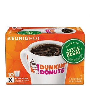 ihocon: Dunkin' Donuts Original Blend Coffee K-Cup Pods, Decaf, Medium Roast, For Keurig Brewers,0.37 Ounce, 10 Count (Pack of 6) 低咖啡因 咖啡膠囊10個裝, 6盒