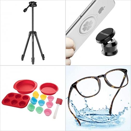 [Amazon折扣碼] 攝影三腳架, 汽車磁性手機固定器, 矽膠烘培模, 抗藍光眼鏡 額外折扣!