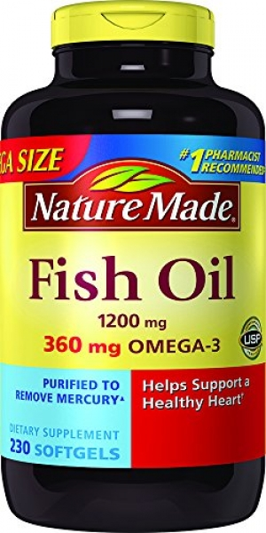 ihocon: Nature Made Fish Oil 1200 mg w. Omega-3 360 mg Softgels Mega Size 230 Ct  魚油