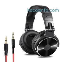 ihocon: OneOdio Adapter-free Closed Back Over-Ear 3.5mm DJ Stereo Monitor Headphones (Black)有線耳機
