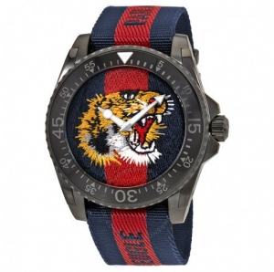 ihocon: GUCCI Dive Tiger Embroidered Dial Men's Watch