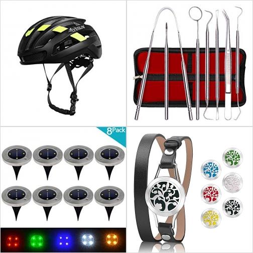 [Amazon折扣碼] 安全頭盔, 牙齒清潔工具組, 太陽能庭園燈8個, 精油擴香手環 額外折扣!