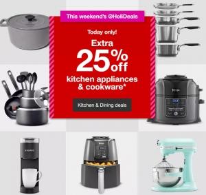 [快, 只一天]Target: 廚用小家電及鍋子 全部25% off