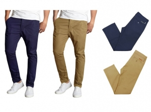 ihocon: Men's Slim Fit Stretch Chinos 2-Pack 男士長褲2件