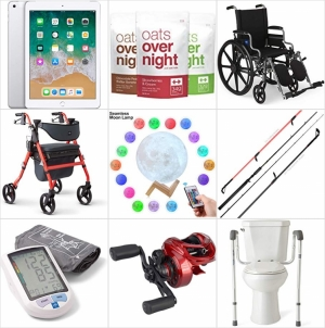 [Amazon今日特賣一覽] iPads (Refurbished),  月球燈, 釣桿, Reel, 釣桿架, 高蛋白/低糖/Gluten-Free 早餐, 血壓計, 輪椅, 推車, 馬桶扶手 一日特賣