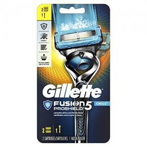 ihocon: Gillette Fusion5 ProShield Chill Men's Razor, Handle & 2 Blade Refills男士刮鬍刀, 含2個替換刀頭