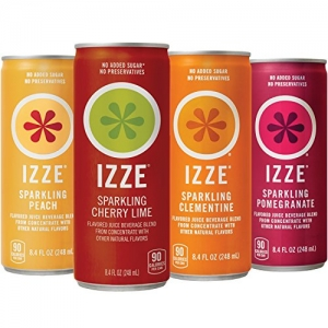ihocon: IZZE Sparkling Juice, 4 Flavor Sparkling Sunset Variety Pack, 8.4 oz Cans, 24 Count 氣泡果汁