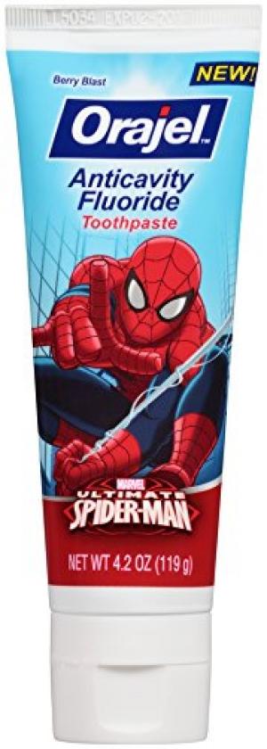 ihocon: Orajel Spider-Man Anticavity Fluoride Toothpaste, Berry Blast, 4.2 Oz  兒童牙膏
